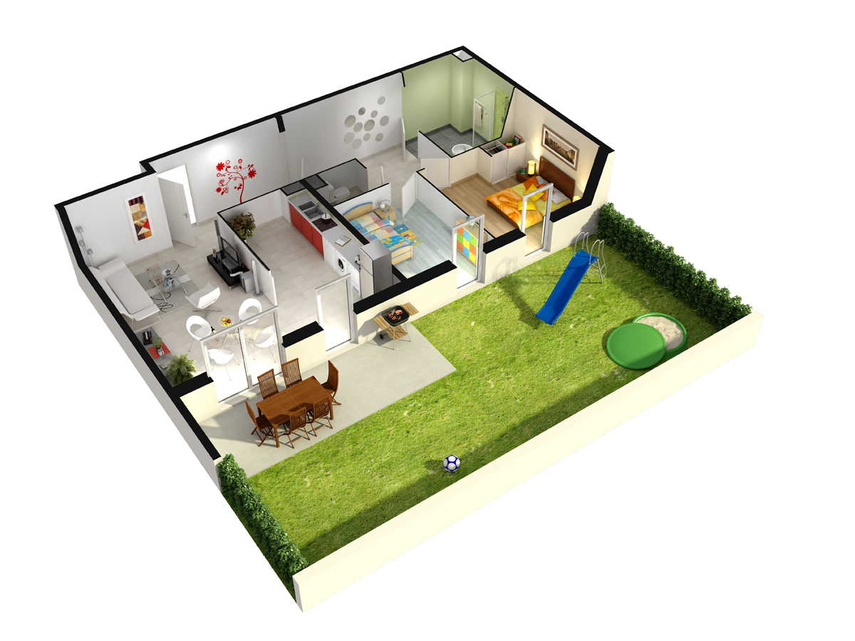 Harmonie habitat harmonie habitat natur o for Plan appartement 3d